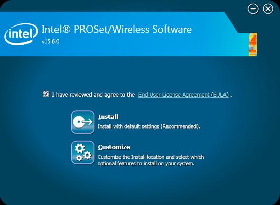 Intel proset/wireless wifi connection utility