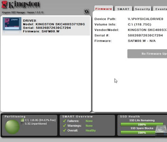 Kingston SSD Manager Version 1 0 0 19